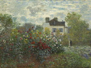 Claude Monet (French, 1840 - 1926 ), The Artist's Garden in Argenteuil (A Corner of the Garden with Dahlias), 1873, oil on canvas, Gift of Janice H. Levin, in Honor of the 50th Anniversary of the National Gallery of Art